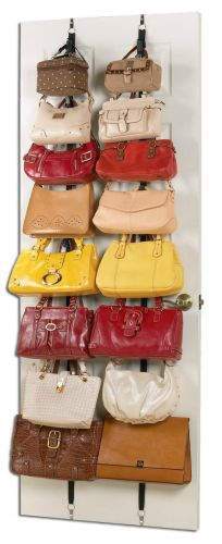 Use An Over The Door Or Wall Purse Rack