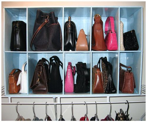 Superb Use A Closet Shelf Organizer For Storage For Purses