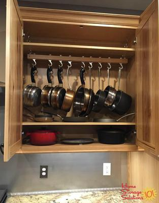Hang Your Pots Inside Cabinet