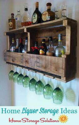 liquor storage ideas solutions