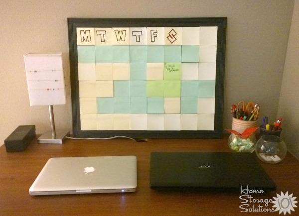 Aimee's post it note message center {featured on Home Storage Solutions 101}