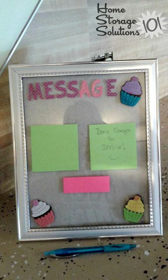 Home message center shown by a reader, Maureen {featured on Home Storage Solutions 101}