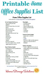Office Supplies List
