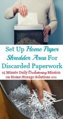 Home Paper Shredder Area