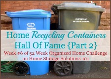 home recycling containers hall of fame {part 2}