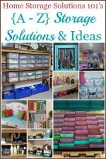 {A-Z} Storage Solutions & Ideas