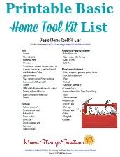 Tool Kit List