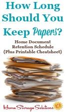 Home Document Retention Schedule