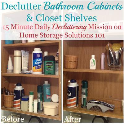Organize Bathroom Cabinets