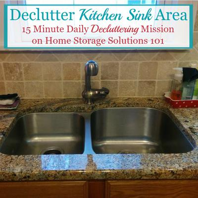 How to declutter your kitchen sink area workwithnaturefo