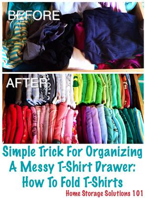 How to fold t shirts simple trick for organizing your shirt drawer