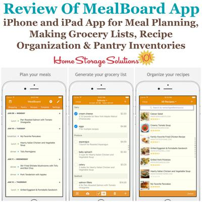 which is an app that is available for both iphone and ipad that helps you with meal planning recipe organization and grocery list