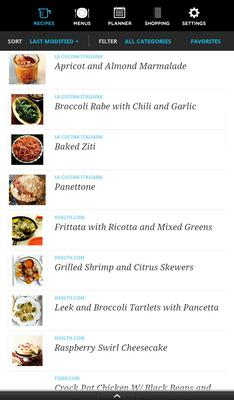pepperplate app review for recipes meal planning making grocery
