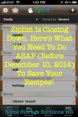 a reader mary jane shared her ziplist review and how she uses a smart phone app to make a grocery list that she can carry around with her