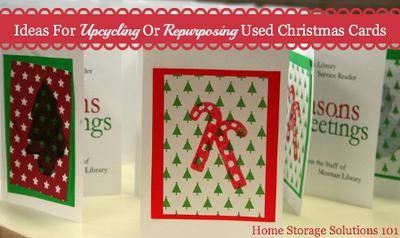 What To Do With Used Christmas Cards Declutter Upcycle Or Donate