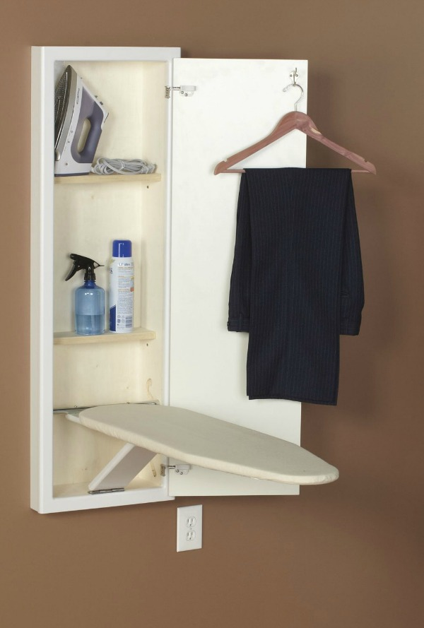 Charmant Household Essentials Stow Away In Wall Ironing Board That Folds Out For Use  When You Need