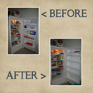 Before and After of Upright Freezer