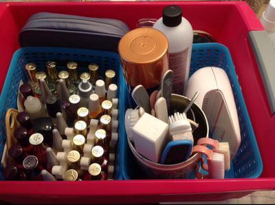 Used Metal Storage Cabinet >> Nail Polish Storage Ideas & Organization Solutions