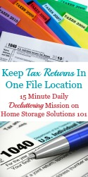 Keep Tax Records In One Filing