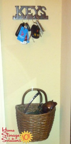 wall key holder plus sunglasses basket