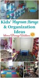 Kids Playroom Storage & Organization Ideas Hall of Fame