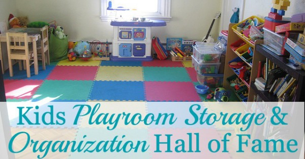 Kids playroom storage and organization ideas from real people -- they're inspiring but still doable! {on Home Storage Solutions 101}
