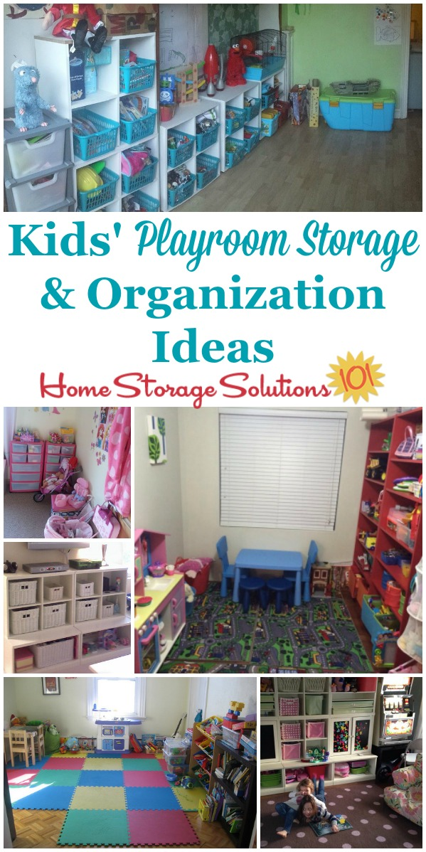 Real life kids playroom storage and organization ideas, for storing toys and keeping them organized so kids can play with them without a mess {on Home Storage Solutions 101} #PlayroomStorage #PlayroomOrganization #PlayroomOrganizer