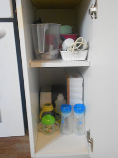 Baking and baby stuff cupboard