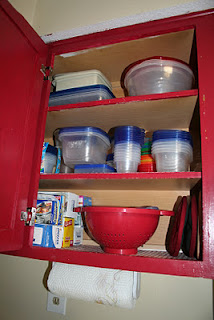 Organized plastic food storage containers