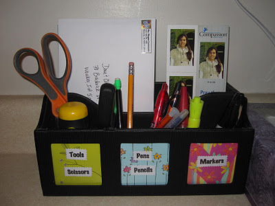 Organized mail area - one of her kitchen zones