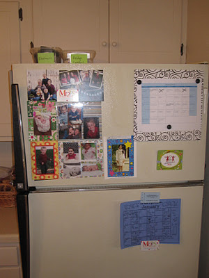 Decluttered top of the refrigerator