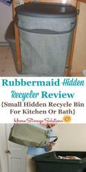 Rubbermaid Kitchen Recycling Bin