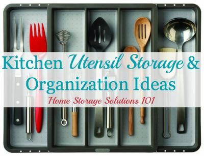 Kitchen Utensil Storage Organization Ideas