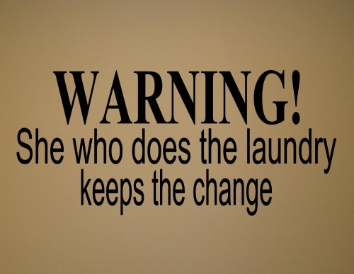 laundry change sign decals
