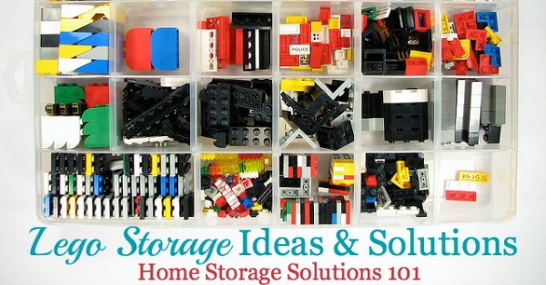 Lots of real life Lego storage ideas and solutions {on Home Storage Solutions 101}