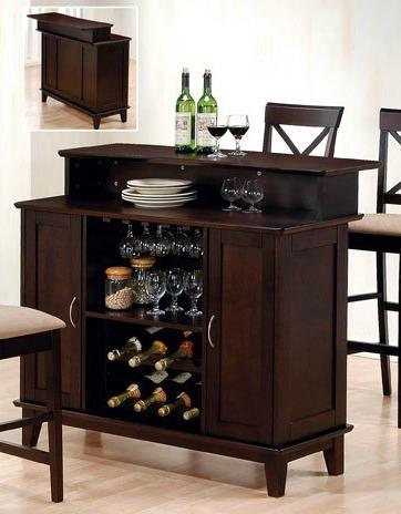 home bar with liquor storage