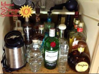 keep liquor stored in locked cabinet