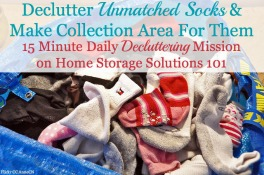 declutter lost socks and make a sock basket