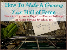 how to make a grocery list hall of fame