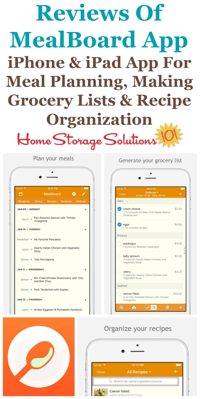 mealboard reviews why it s a great recipe grocery list app