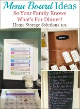 Menu board ideas for your home