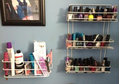 Nail Polish Display Wall Rack Using Spice Racks