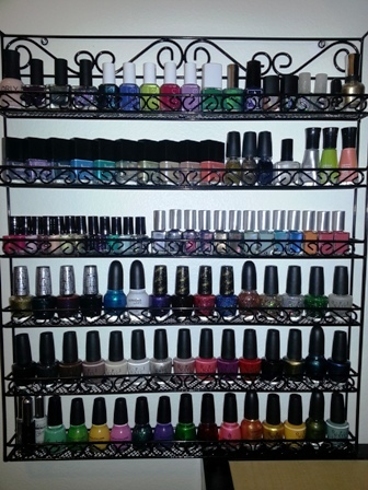 metal nail polish wall rack
