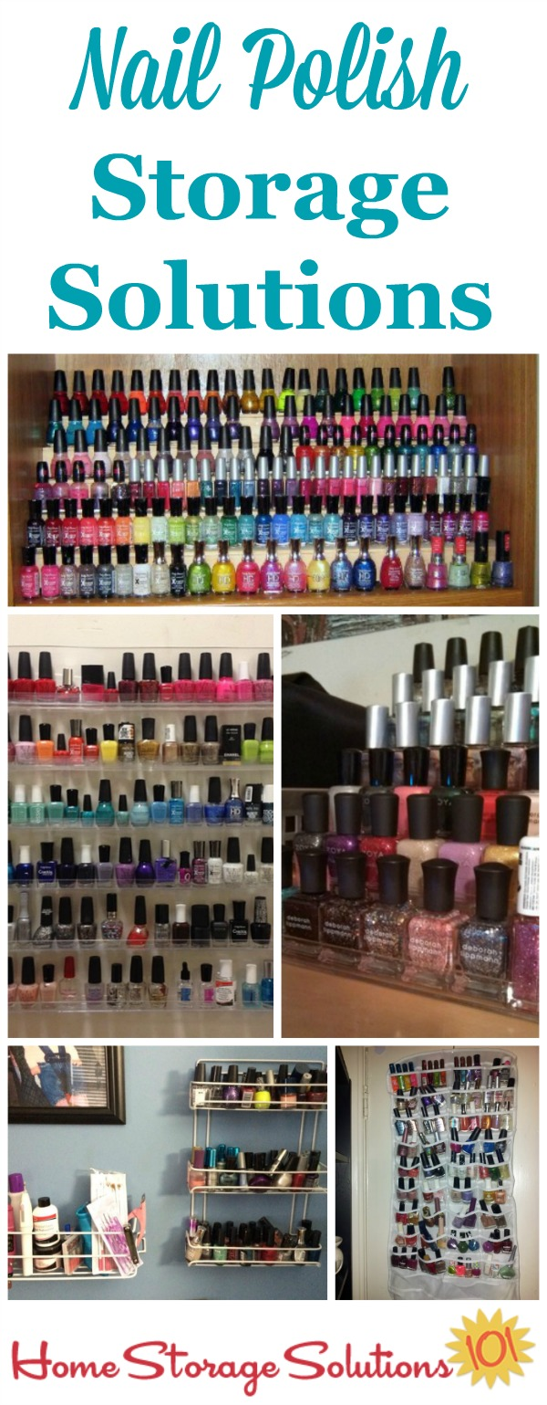 Nail polish storage solutions and organization ideas for small to large collections {on Home Storage Solutions 101}