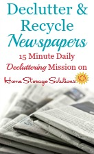 Newspaper Recycling & Decluttering