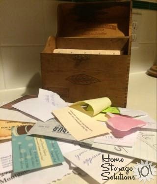 Make your own address book or Rolodex using index cards {featured on Home Storage Solutions 101}