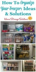 Organize Your Freezer