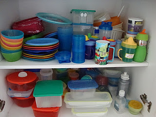 Before - plastics cupboard