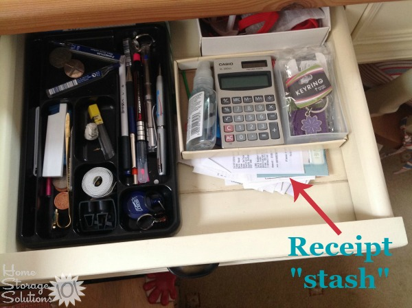 how to declutter organize receipts