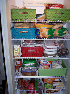 Organized freezer with baskets - view 1